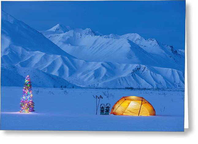 Special Occasion Greeting Cards - A Backpacking Tent Lit Up At Twilight Greeting Card by Kevin Smith