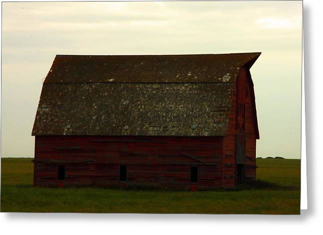 Saskatchewan Photographs Greeting Cards - A Barn In Saskatchewan Greeting Card by Jeff  Swan