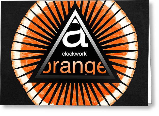 Large Clock Greeting Cards - A clockwork orange Greeting Card by Filippo B