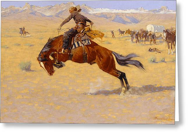 Vanishing Greeting Cards - A Cold Morning on the Range Greeting Card by Frederic Remington