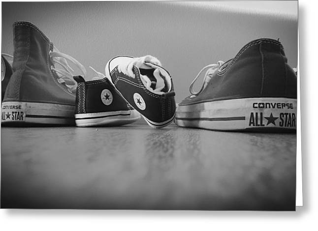 Athletic Photo Greeting Cards - A Converse Family Greeting Card by Mountain Dreams
