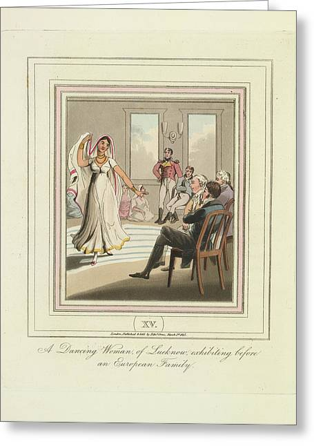 A Dancing Woman Greeting Card by British Library