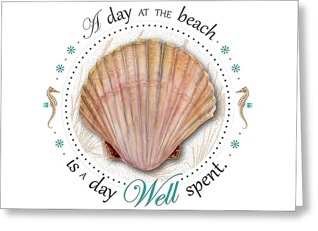 A day at the beach is a day well spent Greeting Card by Amy Kirkpatrick