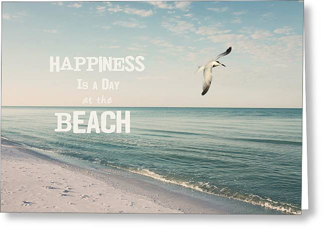 Tropical Beach Greeting Cards - A Day at the Beach Greeting Card by Kim Hojnacki