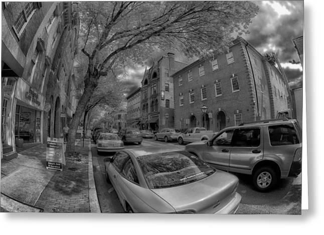 Distortion Greeting Cards - A Day in Frederick Maryland Greeting Card by Mountain Dreams