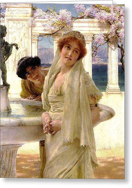 Opinion Greeting Cards - A Difference of Opinion Greeting Card by Sir Lawrence Alma Tadema