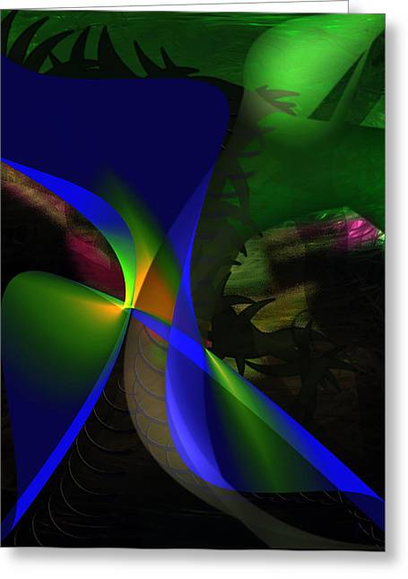 Abstract Digital Digital Greeting Cards - A Dream Greeting Card by Gerlinde Keating - Keating Associates Inc