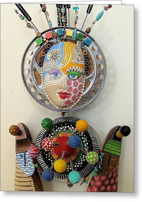 A Fundoo Pot Greeting Card by Keri Joy Colestock