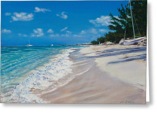 Recently Sold -  - Powder Greeting Cards - A Grace Bay Day Greeting Card by Liz Zahara