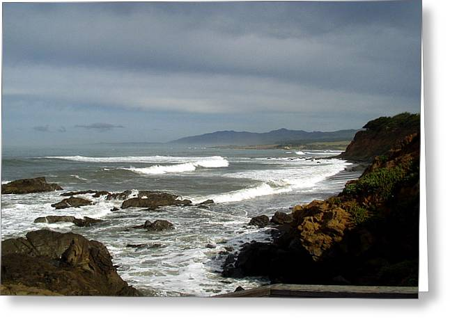 Barbara Snyder Greeting Cards - A Hazy Day In Morro Bay II Greeting Card by Barbara Snyder