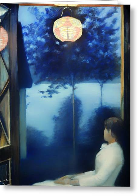 A Japanese Lantern Greeting Card by Mountain Dreams