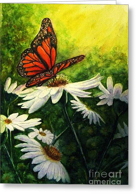 Sunlight On Flowers Greeting Cards - A Life-changing Encounter Greeting Card by Hazel Holland