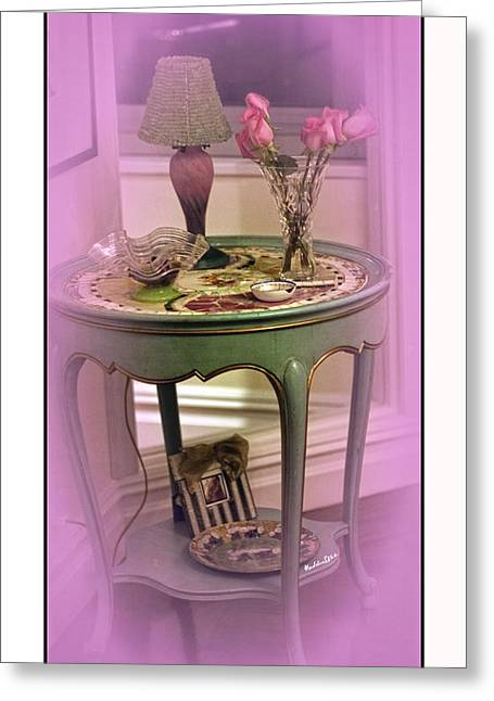 Table Lamp Greeting Cards - A Memory  Greeting Card by Madeline Ellis