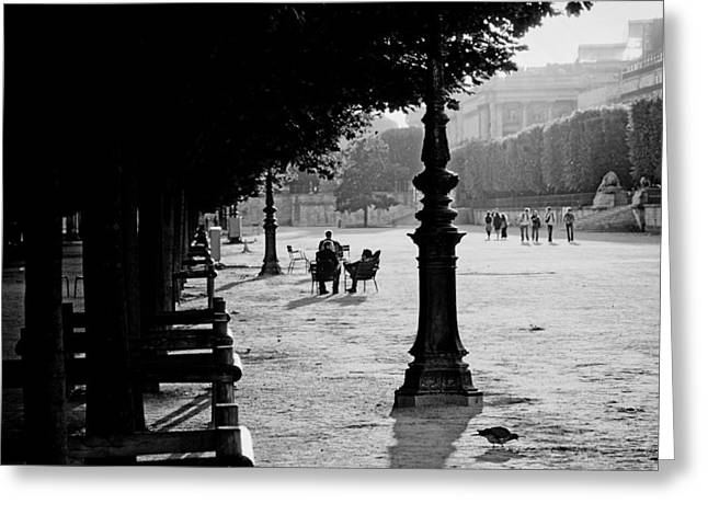 Analog Greeting Cards - A Paris Park Greeting Card by Mountain Dreams