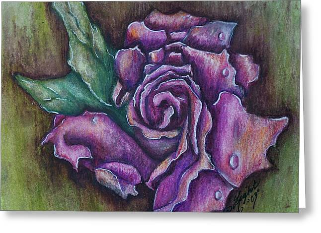A Rose    Greeting Card by Linda Simon