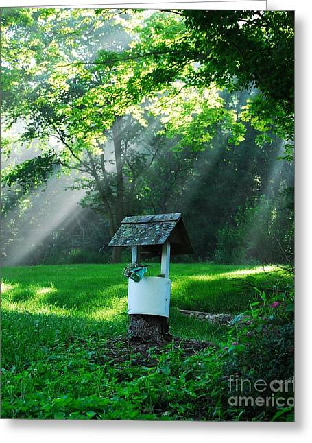 Wishing Well Greeting Cards - A Small Wish   2 Greeting Card by Mel Steinhauer