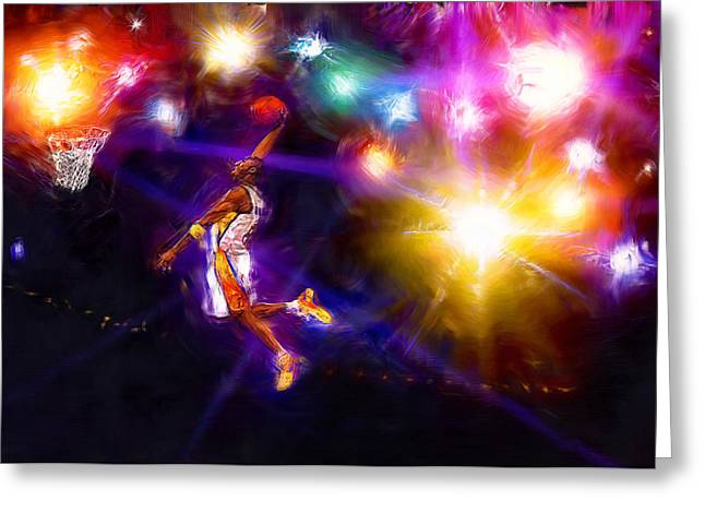 Recently Sold -  - Kobe Greeting Cards - A Star Is Born Greeting Card by Alan Greene