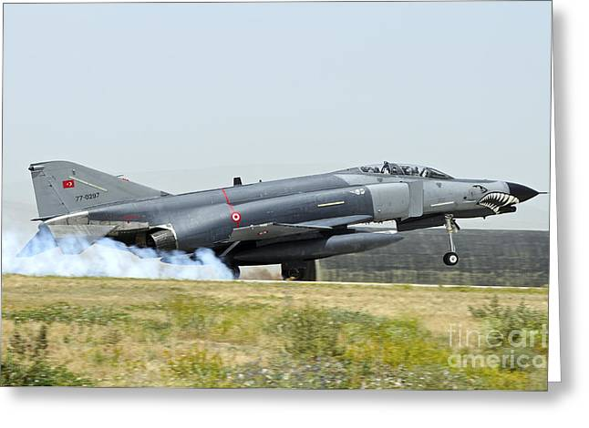 The Terminator Greeting Cards - A Turkish Air Force F-4e 2020 Greeting Card by Riccardo Niccoli