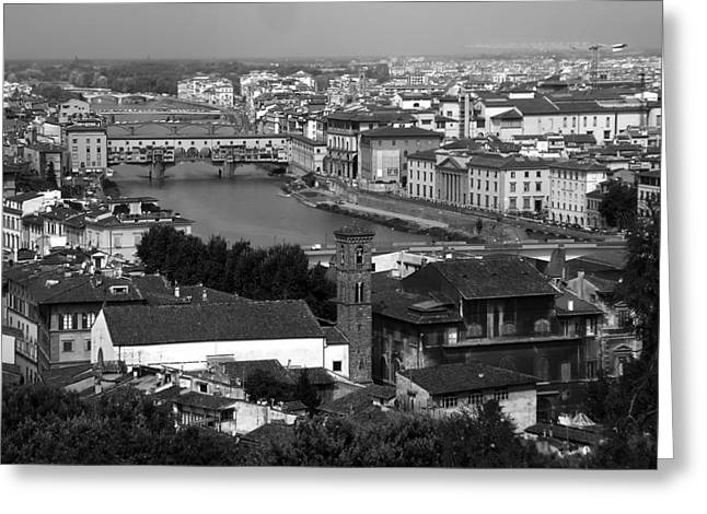 Florence Greeting Cards - A View of Florence Greeting Card by Mountain Dreams