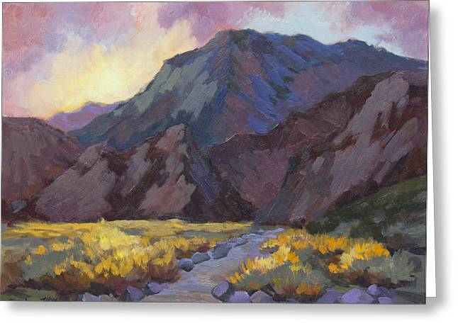 La Quinta Greeting Cards - A Walk in La Quinta Cove Greeting Card by Diane McClary
