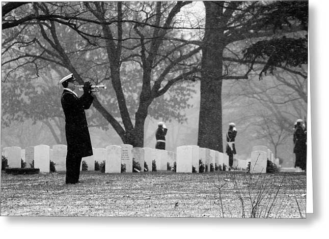 Gravesite Greeting Cards - A Wintry Final Call Greeting Card by Mountain Dreams