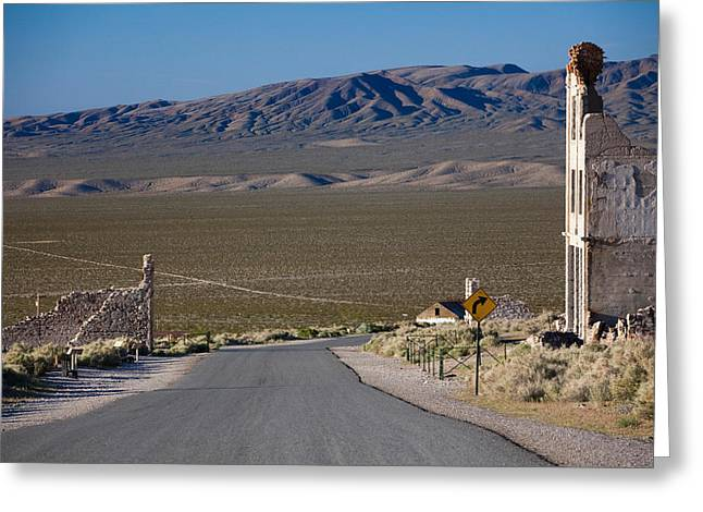 Run Down Greeting Cards - Abandoned Buildings In Rhyolite Ghost Greeting Card by Panoramic Images