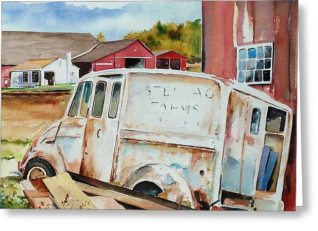 Scott Nelson Paintings Greeting Cards - Forgotten Delivery  Greeting Card by Scott Nelson