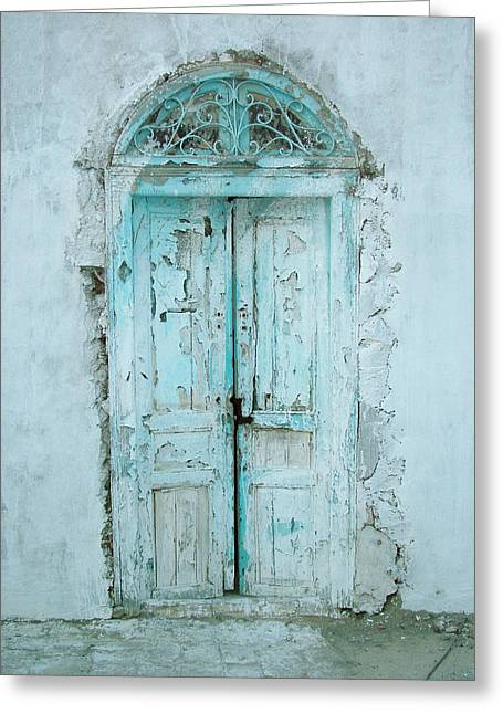 Tunisia Greeting Cards - Abandoned Doorway Greeting Card by Donna Corless