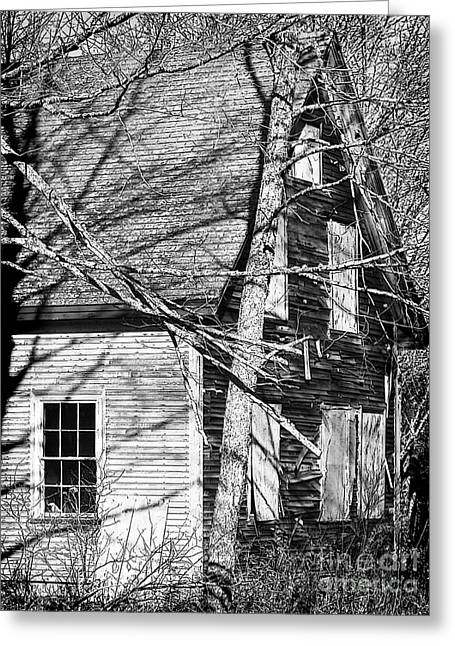 Old Maine Houses Greeting Cards - Abandoned  Greeting Card by Laura Mace Rand