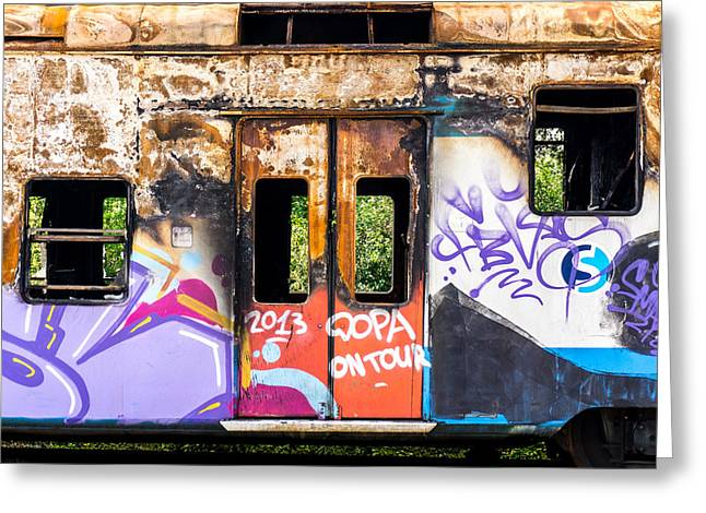 Train Car Greeting Cards - Abandoned rail car Greeting Card by Jim Hughes
