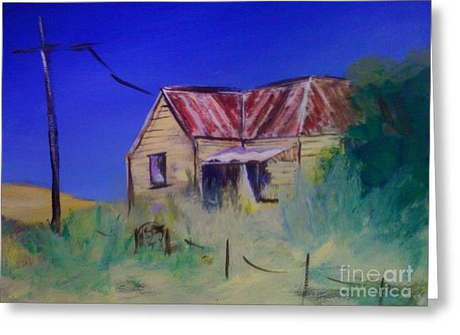 Run Down Paintings Greeting Cards - Abandoned Greeting Card by Therese Alcorn