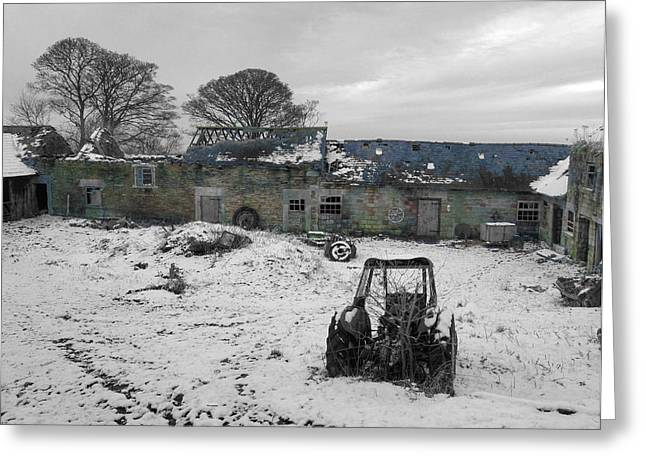 History Derbyshire Greeting Cards - Abandoned to Nature Greeting Card by David Birchall