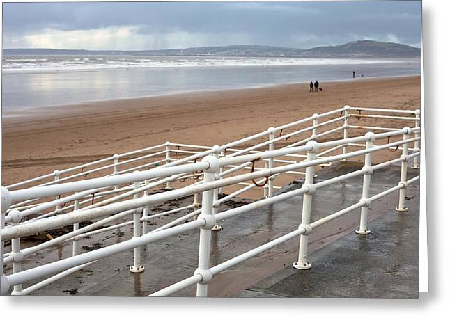 Ocean Panorama Photographs Greeting Cards - Aberafan Beach Greeting Card by Tom Gowanlock