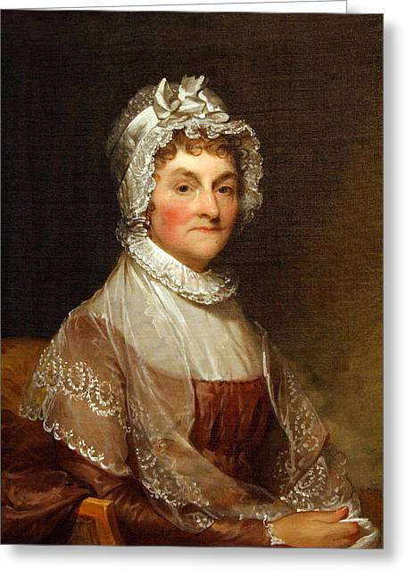 Recently Sold -  - First-lady Greeting Cards - Abigail Smith Adams By Gilbert Stuart Greeting Card by Cora Wandel