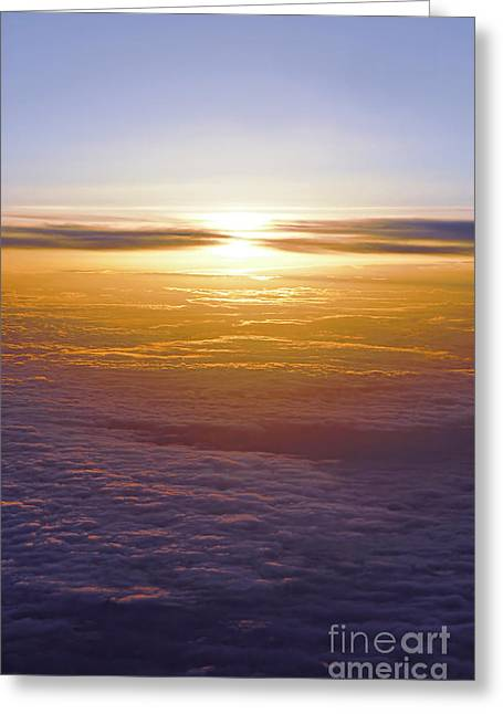 Airline Greeting Cards - Above the clouds Greeting Card by Elena Elisseeva