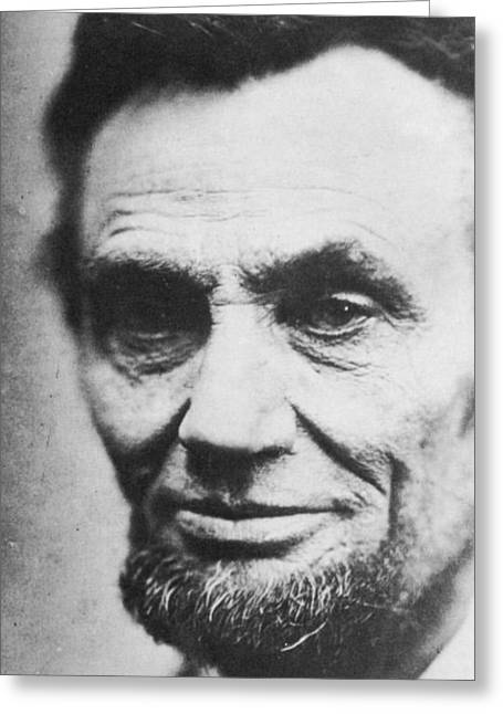 President Of America Photographs Greeting Cards - Abraham Lincoln Greeting Card by Anonymous