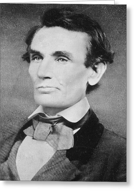 Presidential Photographs Greeting Cards - Abraham Lincoln Greeting Card by Unknown