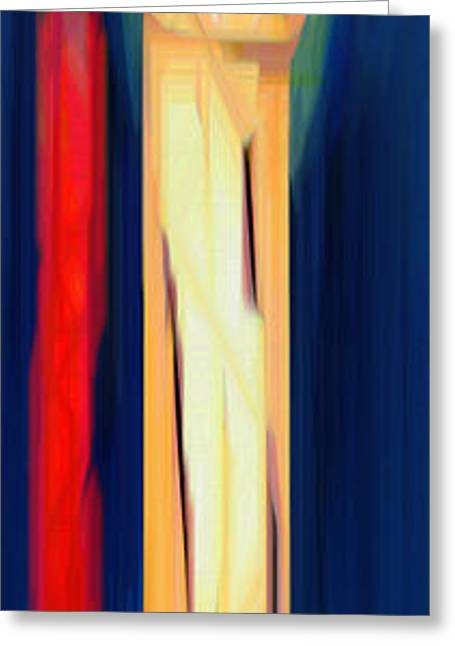 Shower Curtain Greeting Cards - Abstract 11 Greeting Card by Rafael Salazar