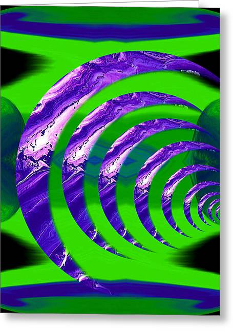 Reflective Greeting Cards - Abstract 123 Greeting Card by J D Owen