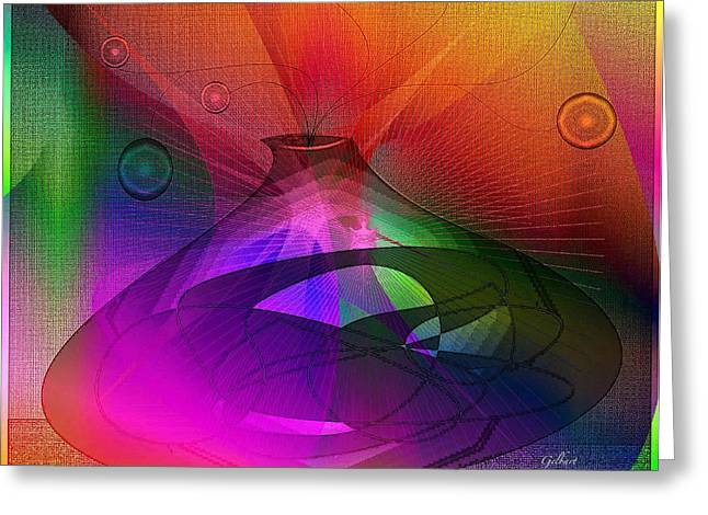 Berry Pastels Greeting Cards - Abstract 90 Greeting Card by Iris Gelbart