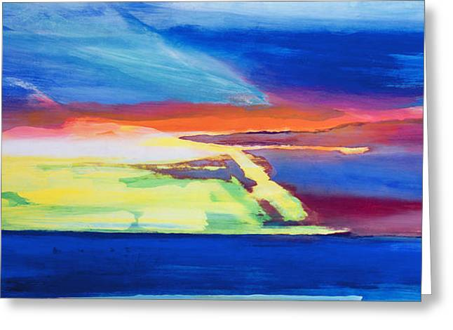 Modern Art Greeting Cards - Abstract composition Greeting Card by Lou Gibbs