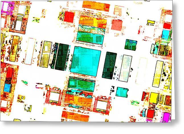 Transparency Geometric Digital Greeting Cards - Abstract Geometric Art Greeting Card by Phil Perkins