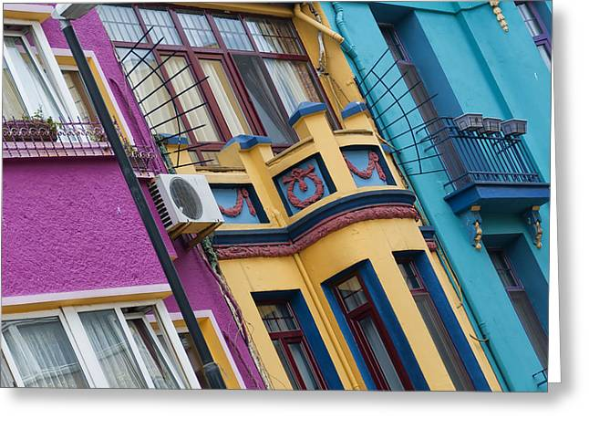 Residential Structure Greeting Cards - Abstract Istanbul 02 Greeting Card by Antony McAulay