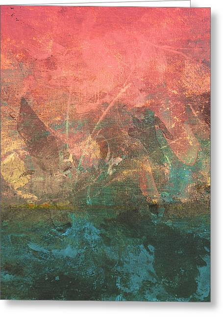 Abstract Print 2 Greeting Card by Filippo B