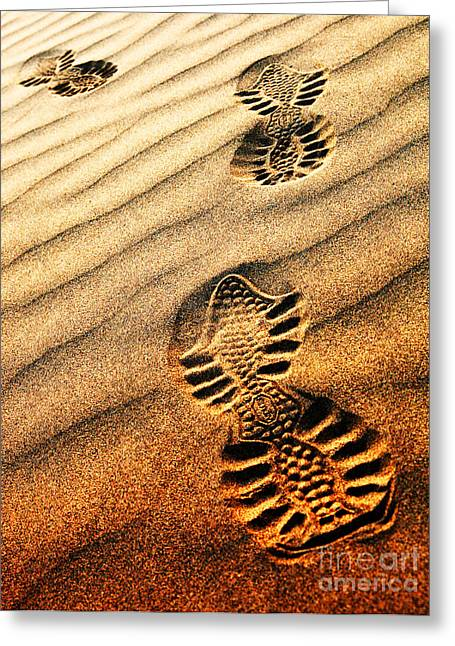 Sahara Sunlight Greeting Cards - Abstract sand pattern  Greeting Card by Sorin Rechitan