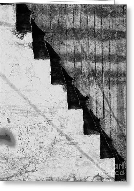 Failure Greeting Cards - Abstract Stairway Greeting Card by Antony McAulay