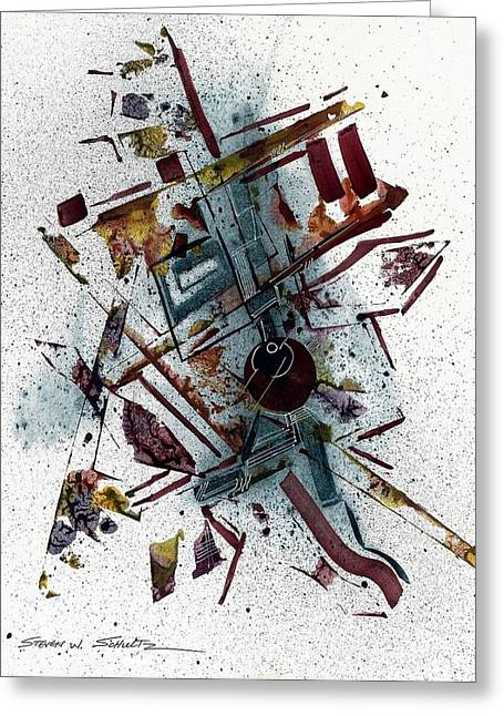 Abstract Study Greeting Card by Steven Schultz