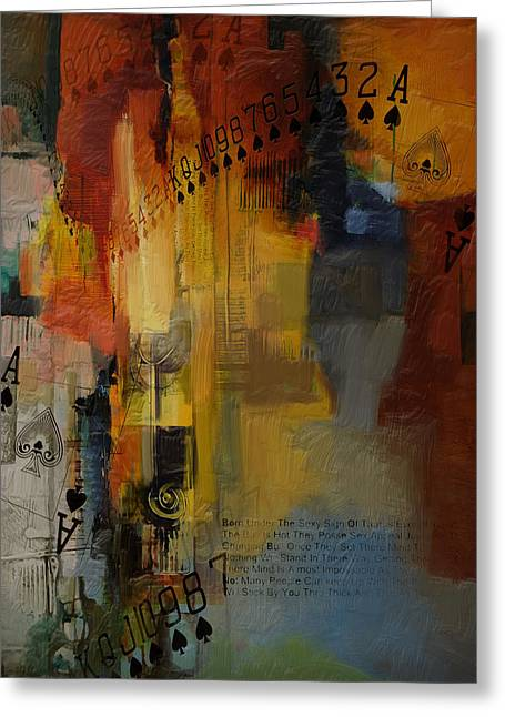 Swiss Paintings Greeting Cards - Abstract Tarot Art 013 Greeting Card by Corporate Art Task Force
