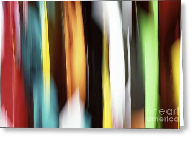 Yellow Abstract Art Greeting Cards - Abstract Greeting Card by Tony Cordoza