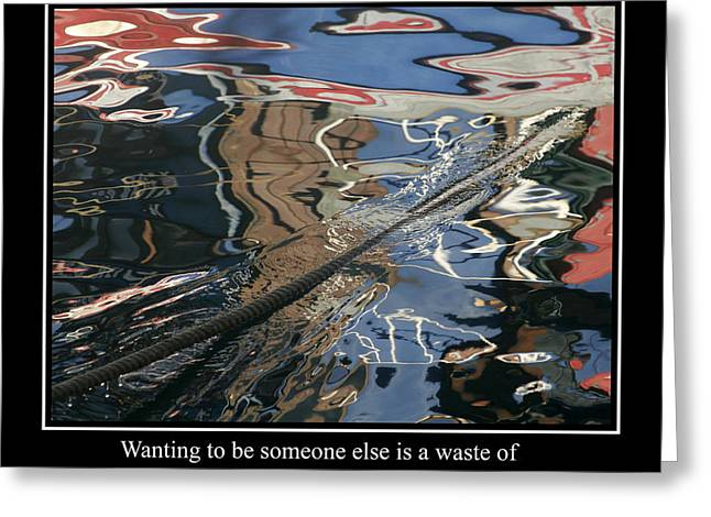 Famous Fish Abstract Greeting Cards - Abstract Water Reflection 12 Greeting Card by Andrew Hewett